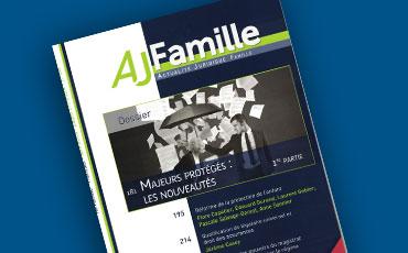 Nouvel article de Valéry Montourcy sur l'habilitation familiale, publié dans la revue AJ Famille de mars 2016
