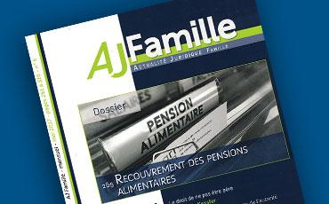 Nouvel article en droit des majeurs protégés de Valéry Montourcy dans l'AJ Famille (éd. Dalloz)